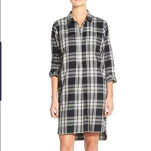Madewell plaid shirtdress, M